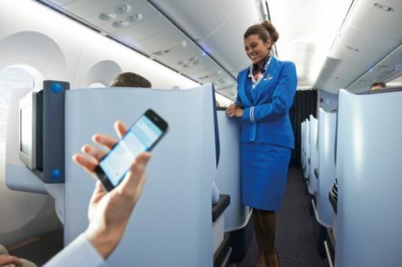 Calidad de atención. Así luce la cabina World Business Class de KLM en un Boeing 787 Dreamliner.