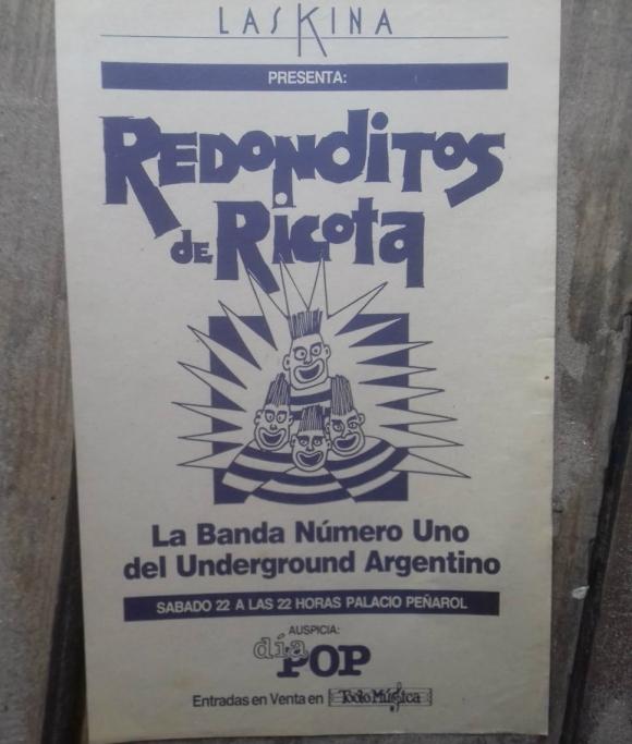 Publicidad del show de Los Redondos en Palacio Peñarol. Foto: Gentileza Gonzalo Nuñez