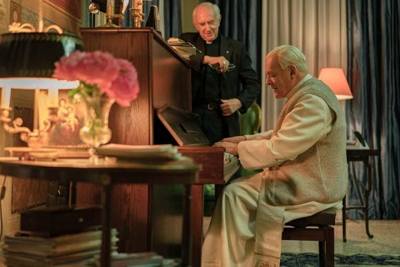 """Imagen de la película """"Los dos Papas"""". Foto: Difusión"""