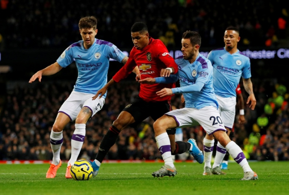 Manchester United vs Manchester City. Foto: Reuters.