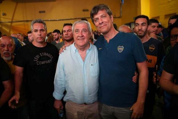 Jorge Amor Ameal y Mario Pergolini, nuevo presidente y vice de Boca Juniors. Foto: La Nación / GDA.
