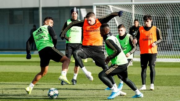 Federico Valverde en el entrenamiento de Real Madrid