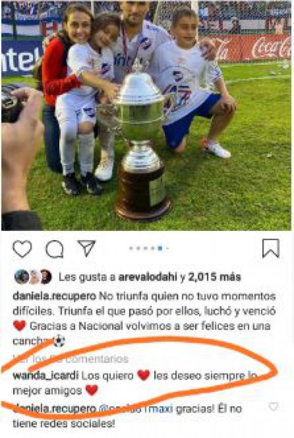 El mensaje de Wanda a Daniela Recupero