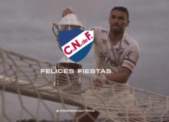 El saludo del Club Nacional de Football por las fiestas. Foto: @Nacional.