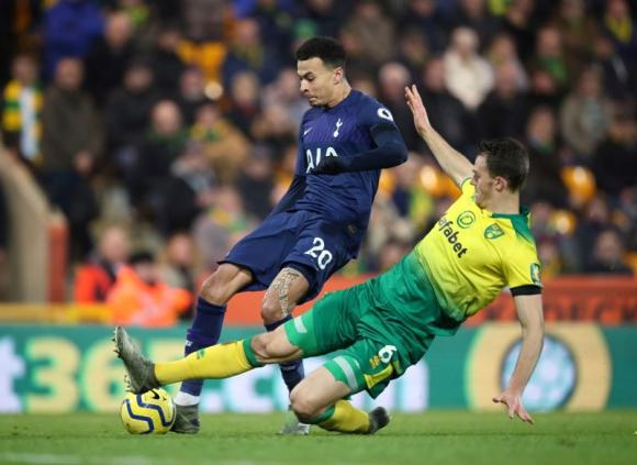 Tottenham repartió los puntos ante Norwich. Foto: Reuters.
