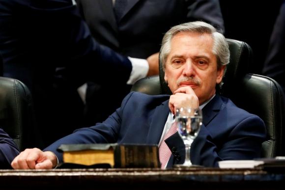 Alberto Fernández, presidente de Argentina. Foto: Reuters