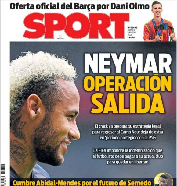 La portada de diario Sport