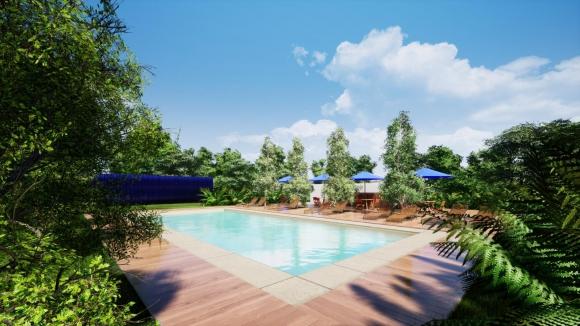 La piscina que Nacional construyó en Los Céspedes