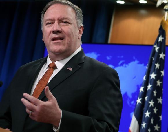 Secretario de Estado de Estados Unidos, Mike Pompeo. Foto: AFP