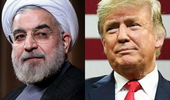 Presidente de Irán Hasán Rohaní y presidente de Estados Unidos Donald Trump