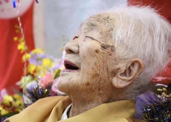 Kane Tanaka, la mujer más vieja del mundo, cumplió 117 años. Foto: Reuters