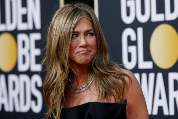 Jennifer Aniston en los Globos de Oro 2020. Foto: Reuters