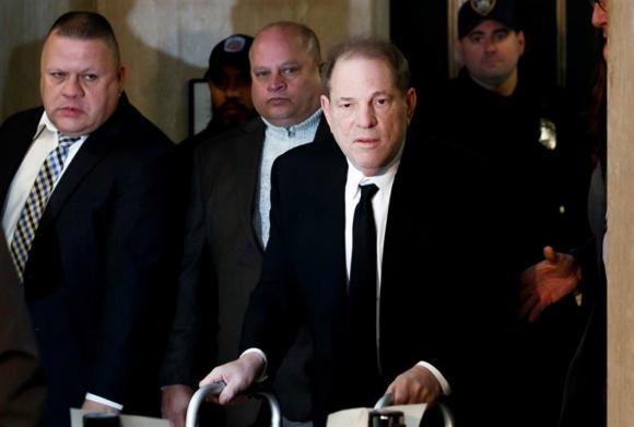 Harvey Weinstein en el comienzo de su juicio. Foto: EFE