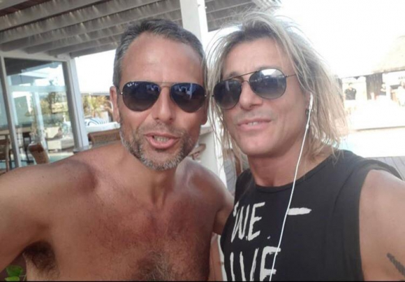 Jorge Lenoble y Claudio Paul Caniggia