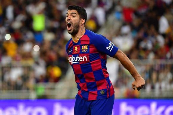 Luis Suárez en el duelo entre Atlético de Madrid y Barcelona. Foto: AFP