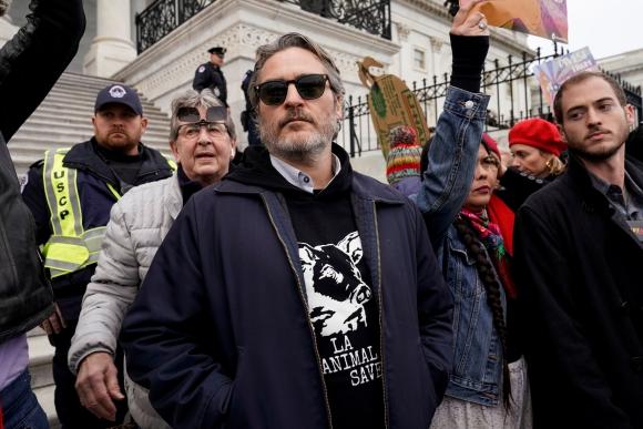Joaquin Phoenix este viernes en el Capitolio. Foto: Reuters