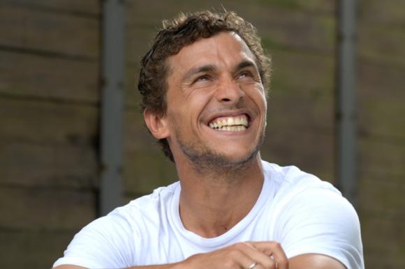 Sebastián Fernández y la sonrisa que caracteriza al delantero tricolor. Foto: Leonardo Mainé.
