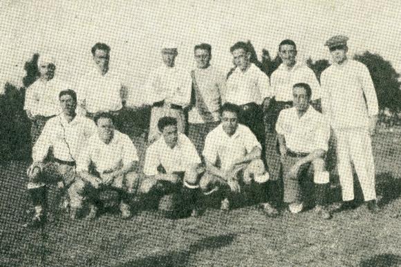 El plantel de Nacional que superó a Boca Juniors en la Copa Aldao.