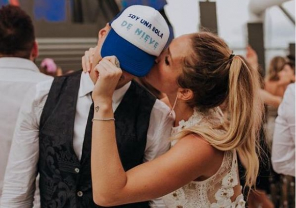 La imagen de Luis Suárez y Sofía Balbi que acompañó el posteo. Foto: Instagram / @sofibalbi
