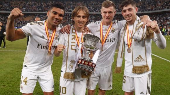 Casemiro, Luka Modric, Toni Kroos y Federico Valverde