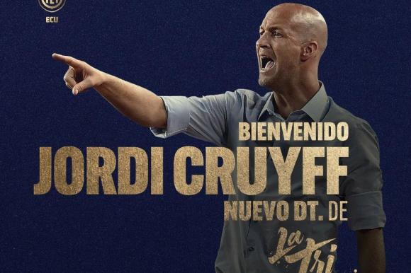 Jordi Cruyff es oficialmente el nuevo DT de Ecuador