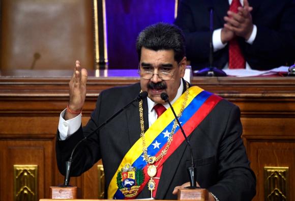 Nicolás Maduro, este martes en su rendición de cuentas anual. Foto: AFP