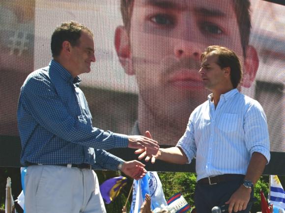 Los sectores liderados por Guido Manini Ríos y Luis Lacalle Pou ya cerraron acuerdos electorales municipales. Foto: Francisco Flores