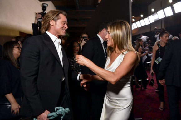 Brad Pitt and Jennifer Aniston.  Photo: AFP