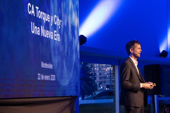 La presentación del cambio de nombre del club que será Montevideo City Torque. Foto: @MvdCityTorque.