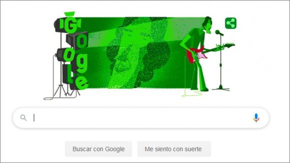 Doodle de homenaje a Luis Alberto Spinetta. Foto: Captura de Google.