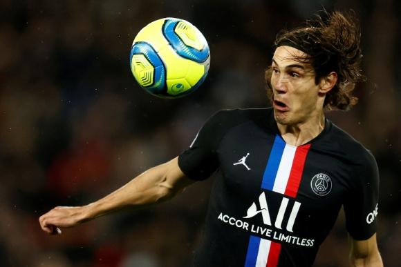 Edinson Cavani en el duelo entre PSG y Montpellier. Foto: Reuters.