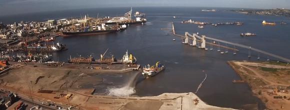 Puerto de Montevideo. Foto: Cortesía de Antel