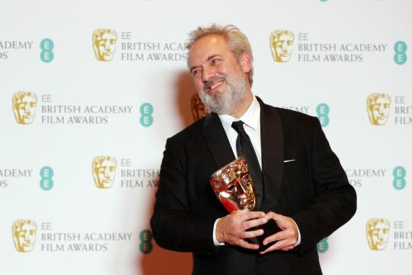Sam Mendes, el realizador británico se llevó el Bafta a mejor director y también mejor película. Foto: AFP