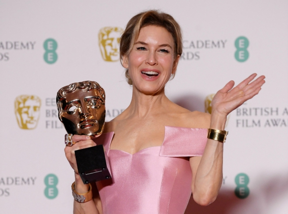 Renée Zellweger, la mejor actriz en los Bafta. Foto: AFP