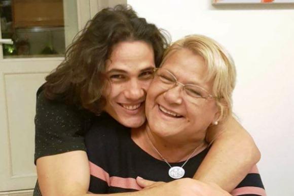 Edinson Cavani y su mamá Berta Gómez