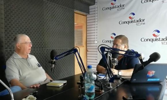 Elías Fuentes, este martes en diálogo con la radio Conquistador FM, de Treinta y Tres. Foto: Captura