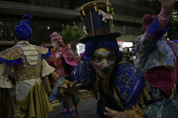 Cayó la Cabra en el desfile de carnaval 2020. Foto: Marcelo Bonjour