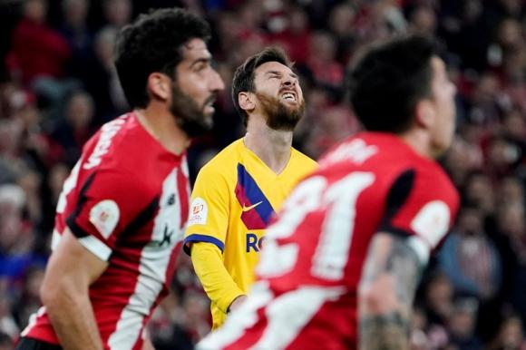 La bronca de Lionel Messi que no pudo evitar la derrota de Barcelona ante el Bilbao. Foto: Reuters.