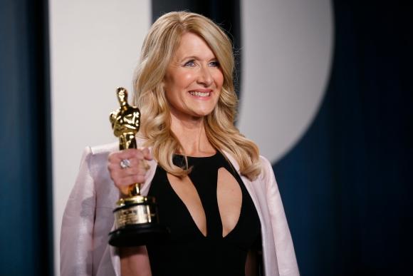 Laura Dern en los Oscar 2020. Foto: Reuters