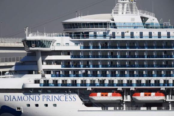 "El crucero ""Diamond Princess"". Foto: AFP."