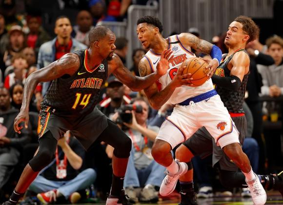 New York Knicks v Atlanta Hawks. Foto: AFP.