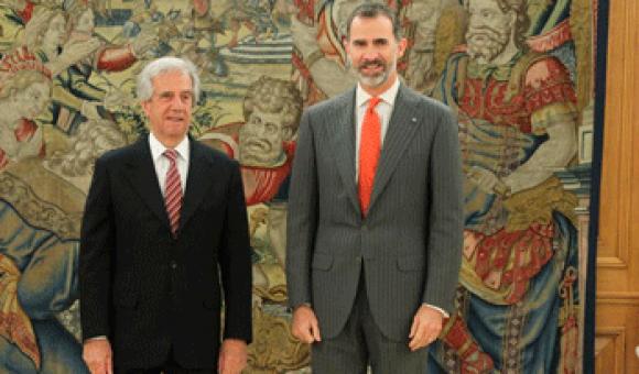 Tabaré Vázquez y el rey Felipe VI se reunieron en Madrid (España) en 2016. Foto: www.presidencia.gub.uy