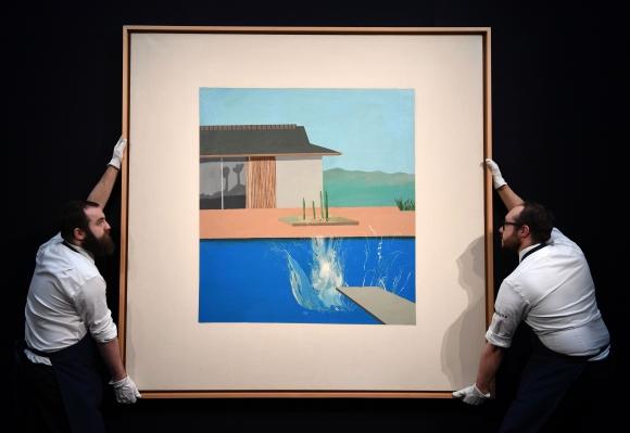 """""""The Splash"""" del artista británico David Hockey. Foto: AFP."""