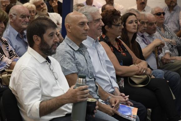 Fernando Pereira, Marcelo Abdala y Tabaré Vázquez este miércoles. Foto: Darwin Borrelli