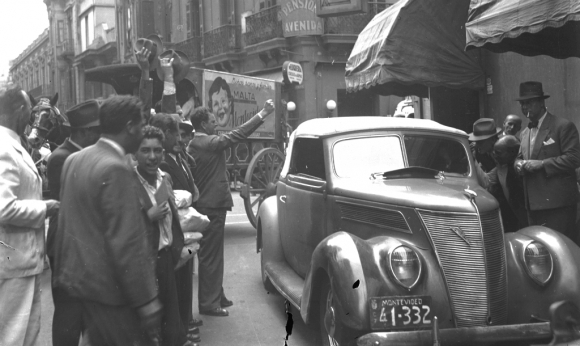 El vehículo cuando era utilizado por Luis Alberto de Herrera. Foto: Archivo El País
