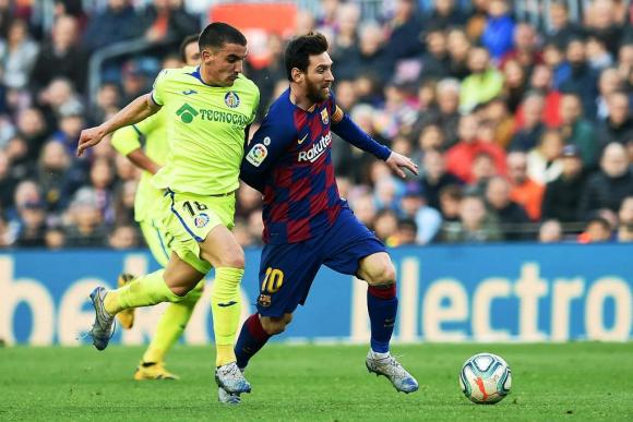 Arambarri y Messi en Barcelona vs. Getafe