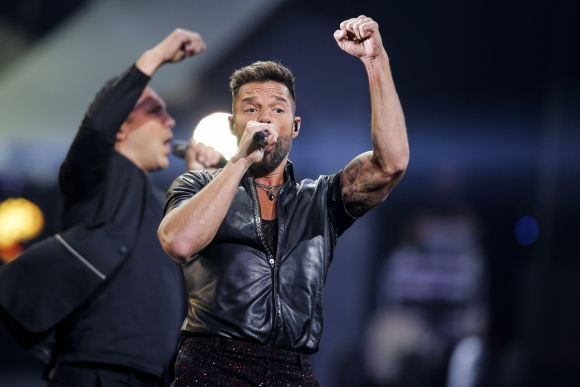 Ricky Martin en Viña del Mar. Foto: AFP