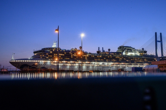 """En el crucero """"Diamond Princess"""" más de 630 pasajeros contrajeron el nuevo coronavirus. Foto: AFP."""