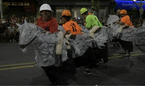 Los Chobys en el desfile de carnaval 2020. Foto: Marcelo Bonjour