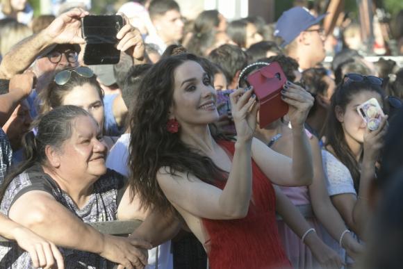 Natalia Oreiro, la conductora de Got Talent Uruguay en el Parque Rodó. Foto: Juan Manuel Ramos